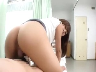 Japanese hospital visitor pretty girl is fucked by creepy patient