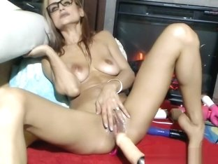 Dirty Milfy Bends Over And Gets Drilled By The Fuck Machine