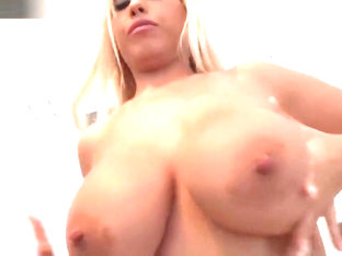 Pretty chick Bridgette B large tits in action