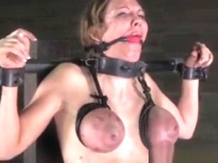 Tit Bonded Skank Is Being Caned