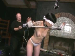BDSM Hot MILF bondage tickling tied electrified Mrs Mischief aka Dana Kane