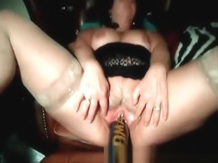 Amature wife with baseball bat