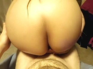 Fleshy Ass Cheeks Rubbed Against Dick