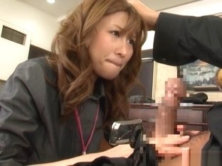 Akari Asahina naughty Asian officer lady gets hot rear fuck