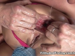 Hottest pornstars in Incredible Anal, Fisting xxx video