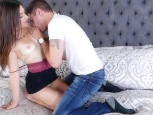 Horny Lacey always ready for huge cock