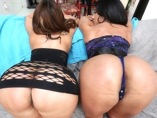 Two Horny Latina Beauties Vs Euro Cock