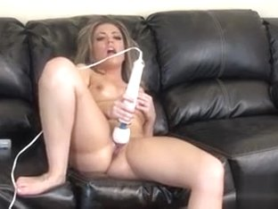 Busty Carmen Valentina plays with a vibrator and screams with pleasure