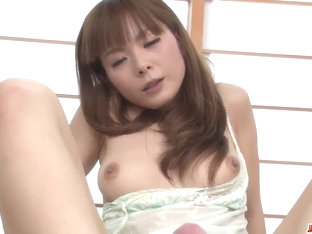Anri Sonozaki slams cock down  - More at Japanesemamas.com