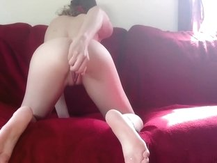 GirlwiththePaw Masterbating Doggy style cums twice