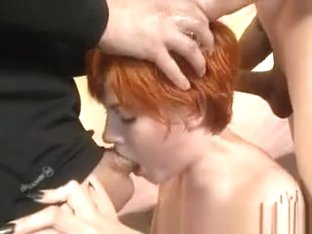 Short Haired Red Head Ava Little Getting Face Hammered