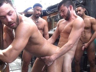 Logan Moore Gang Bang - Dark Alley Media