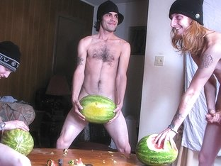 Have You Ever Fucked A Watermelon? - Devin Reynolds, Blinx & Kenneth Slayer - StraightNakedThugs