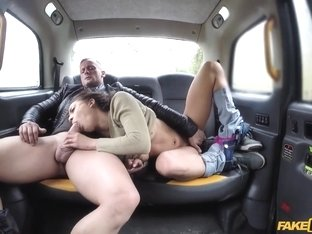 Cassie Del Isla & Dorian Del Isla & John in Hot Wife Sharing Taxi Threesome - FakeTaxi