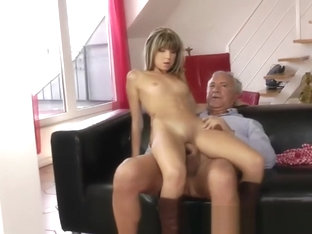Asian Chick Takes Cock In All Holes On Sofa