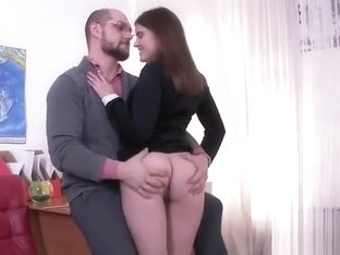 Cute Schoolgirl Gets Seduced And Rode By Her Older Instructo