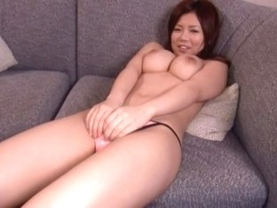Konatsu Aozora is a horny Japanese doll who gets a load of cum on her big tits