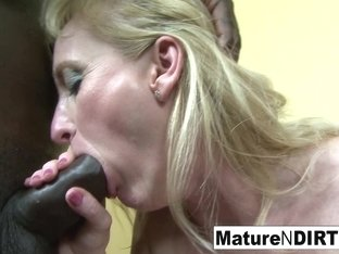 Two Blonde Grannies Have An Interracial Foursome - MatureNDirty