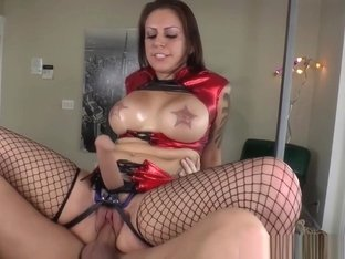 Busty Prodomme Rides Her Slaves Hard Cock