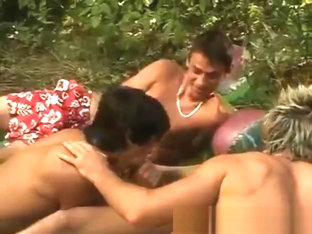 Hot teen boys in outdoor gay threesome part4