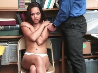 Latina Strip Searched At The Backroom Office