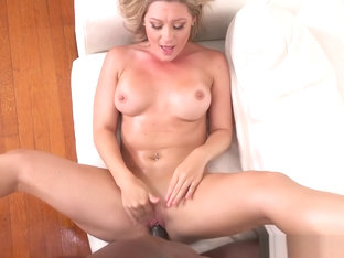 Horny blonde Addison Lee fucks BBC stud