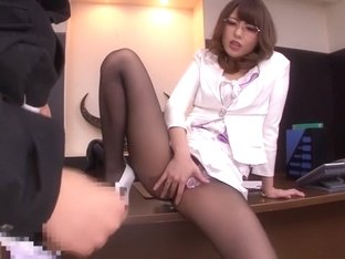 Best Japanese slut Ayu Sakurai in Exotic stockings, handjobs JAV movie