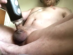 Watching porn and fucking my noisy fleshlight toy to an intense orgasm