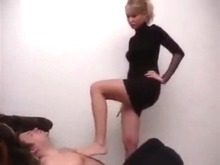 Russian angel teacher trampling foreigner