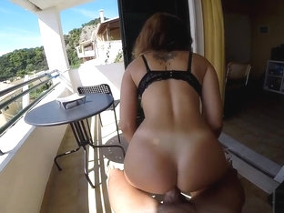 Teen girlfriend with big natural tits is fucked in Greece