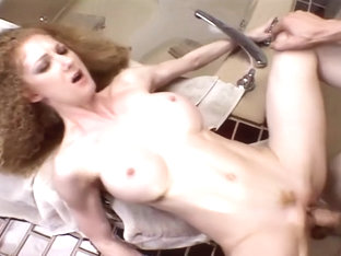Redheaded Housewife Boned And Jizzed On While Husband Watches