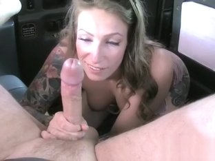 Freaky Chick Ava Austen Blows Hung Taxi Driver