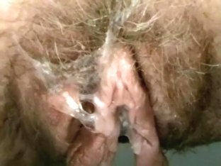 Sticking my fingers into hirsute drooling cunt of my trashy wife