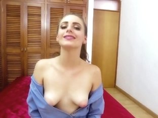 Open Blouse Puffy Nipples Topless Neck Massage