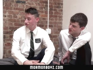 MormonBoyz - Two jealous missionaries fuck each other for their boyfriend