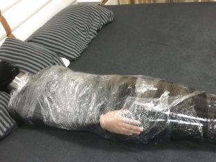 Mummified and Vibed In Latex Suit -- Trailer