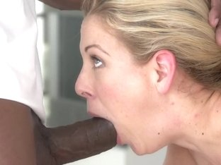 BLACKED Hot Southern Blonde Cherie Deville Takes Big Black Cock