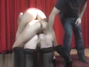 Three czech MILF's having nasty fun in backstage