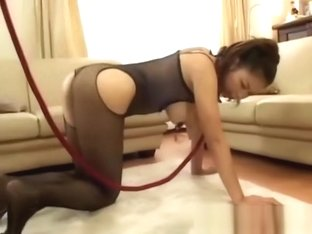 Big tit asian humiliated and walked on leash