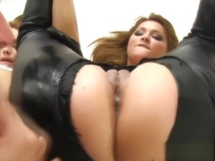 Classy eurosluts assfucked and swapping jizz