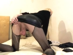 Best Amateur Shemale video with Stockings, Latex scenes
