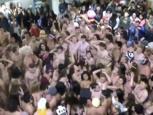 Nude parade of the naughty students