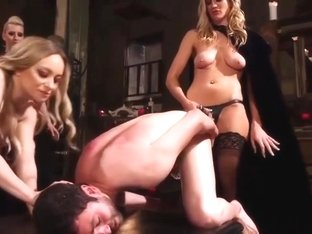 Aiden Starr And Friends Punish Sub Slave
