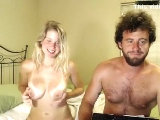 Hippie Blonde Rammed on Webcam