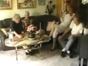 junior couple with old couple swinger