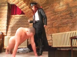 Sexy Femdom Fetish Session Whit Sub Dude Getting Whip Up Ass
