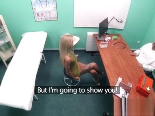 Fake Hospital Sweet Blonde Russian Eats Docs Cum
