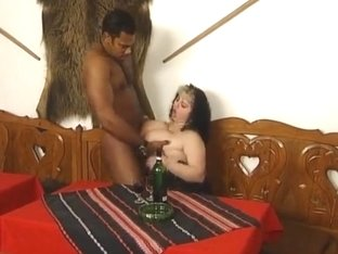 delicious fatty enjoys a big black cock