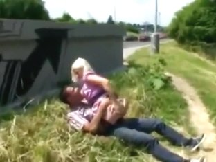 Naughty Blonde Pounded Hard By Stranger on the Public Road