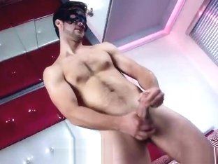 Great looking guy jerking his hard dick part4